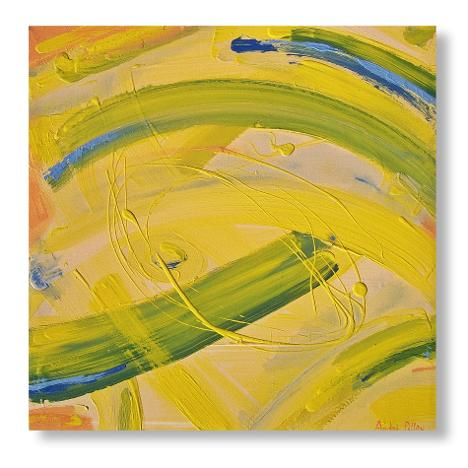 canola sensation yellow abstract painting