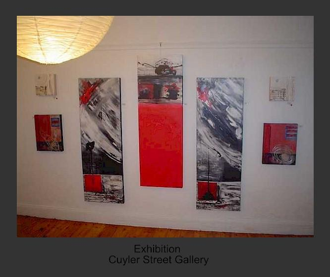 my abstract paintings on exhibition port elizabeth