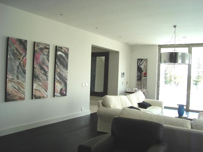 abstract paintings in clients home holland