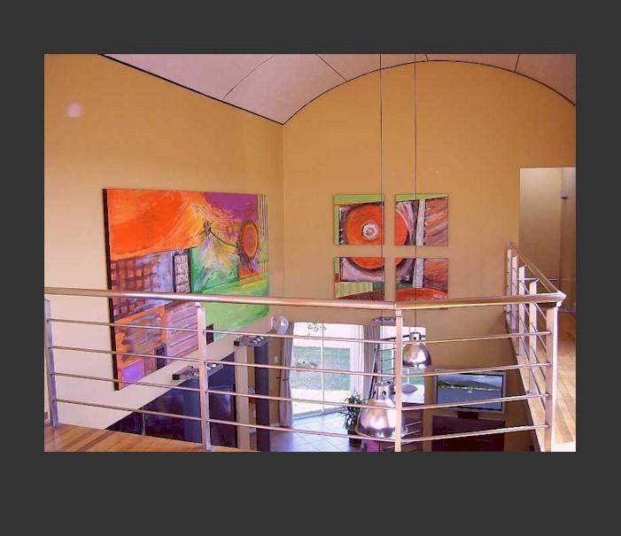 abstract paintings in clients home