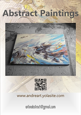 Abstract Art Paintings Flyer