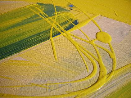 canola sensation closer view painting